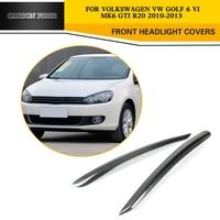 Top Sale 09 12 MK6 Carbon Fiber Front Eyelids Car Eyebrows For VW Golf6 Fits For
