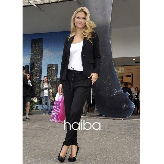 Online Shop women pant suits for wedding ladies trouser suit blue ...