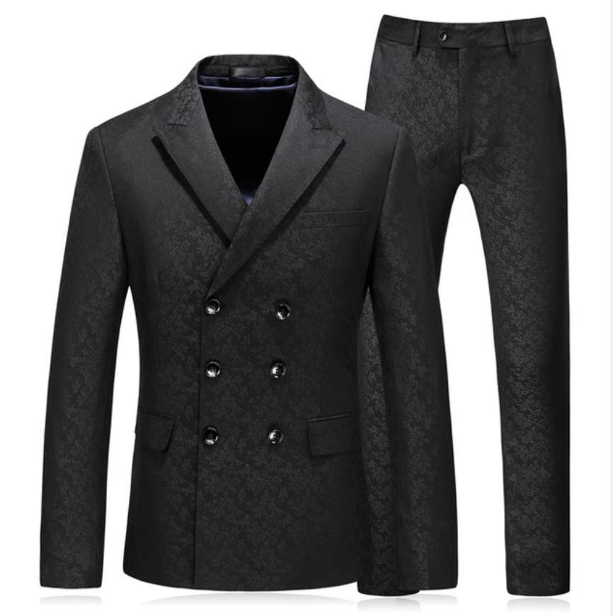 (Jacket+Vest+Pants) 2019 Spring Fashion Men Embroidery Suits Classic Suits Men's Business Wedding Suit Male Suit Costume Homme