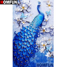HOMFUN Voll Platz/Runde Bohrer 5D DIY Diamant Malerei