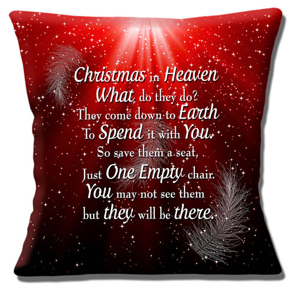 Christmas In Heaven What Do They Do.Us 13 19 12 Off Christmas Xmas Gift Christmas In Heaven Quote Cushion Cover Christmas In Heaven What Do They Do Throw Pillow Case Xmas Decor 18