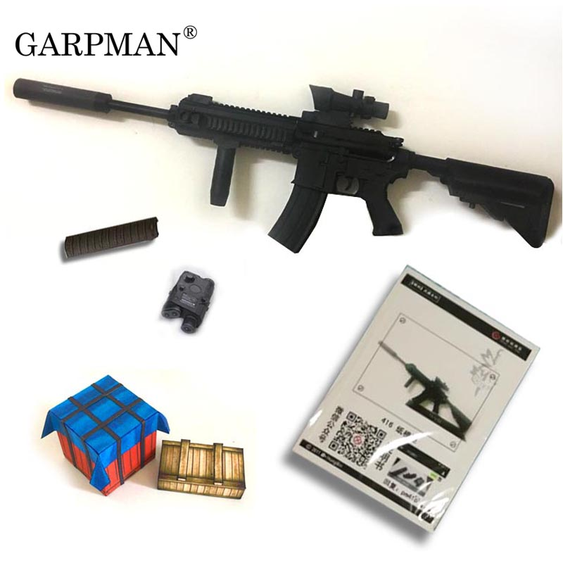 US $27 0 |1:1 80cm M416 Assault Rifle 3D Paper Model Non Firing Papercraft  Toy-in Card Model Building Sets from Toys & Hobbies on Aliexpress com |