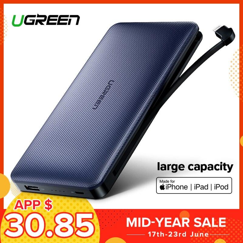 Ugreen batterie externe 20000 mAh pour iPhone X 7 Samsung S9 pour USB iPhone câble chargeur batterie externe batterie externe Pover Bank