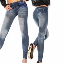Women New Fashion Classic Stretchy Slim Leggings Sexy imitation Jean Skinny Jeggings Skinny Pants jeans woman jaqueta jeans