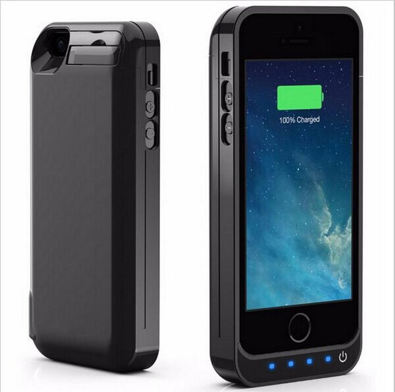 Neng 4200mAh High Quality Rechargeable <font><b>Battery</b></font> Charging <font><b>Case</b></font> for <font><b>iPhone</b></font> 5 <font><b>5s</b></font> 5c SE Power Bank <font><b>Battery</b></font> Pack with Stand image