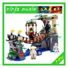 Lepin 06059 334 pcs Ninja Film Série Bloc De Maître Tombe Bâtiment Compatible Enfants de Jouets 70608 Brique Jouet