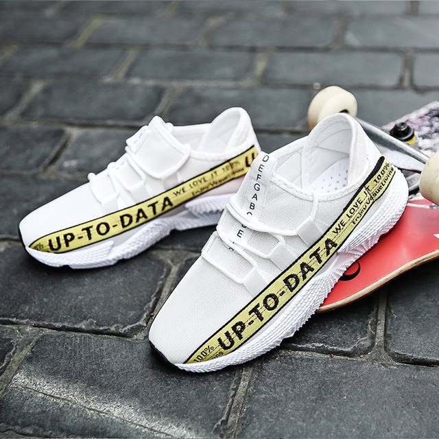 MUQGEW mixed colors letter Men's Sneakers Casual Wild Fashionable Sneakers Mesh Breathable Movement Shoes flat sneaker shoes men