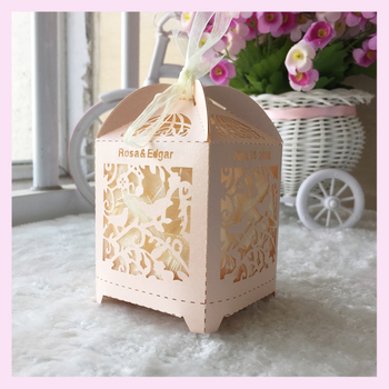 100pcs New Baby Shower Chocolate Box Packaging Candy Box 1st Birthday Party Supplies Wedding Decoration Wedding Favor Gift Box