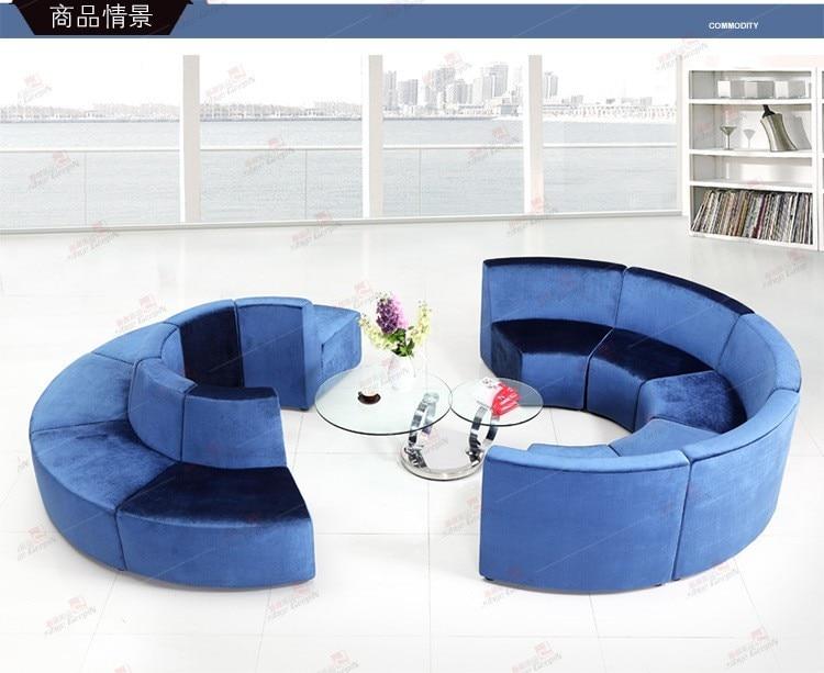 Луи Мода отель диваны бутик офисная мебель круглый Творческий ткань или из искусственной кожи искусство диван сочетание