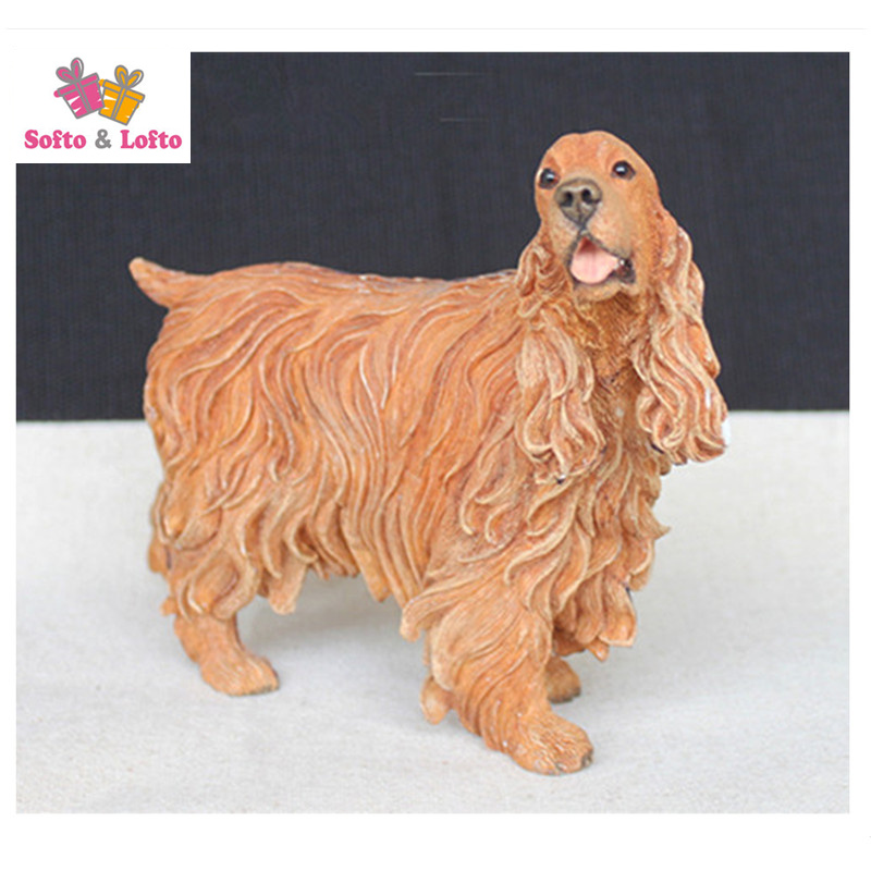 12cm cocker spaniel dog model figure,car styling home room decoration,quality doggy puppy article Christmas birthday gift toy free shipping sleeping beauty figure resin toy vivid lifelike angel girl cake home office car decoration christmas birthday gift