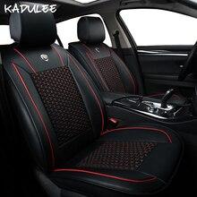 цена на KADULEE ice silk car seat covers for subaru forester hyundai getz i30 skoda superb lada vesta toyota corolla bmw car accessories