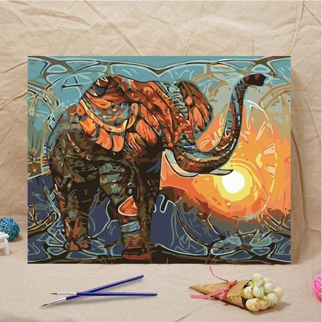 Perfekt Vintage Malerei DIY Indischer Elefant Malerei Durch  TI85