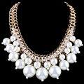 L Y Популярная Европа И Соединенные Штаты Моды Большой Пышной Жемчужные Ожерелья Ожерелья Шнека Размер 4-цветной НК-01348