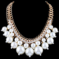 L Y Best-Selling Europe And The United States Fashion Big Luxuriant Pearl Chokers Necklaces  Auger Size 4-Colour NK - 01348