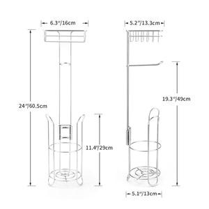 Image 5 - Держатель для туалетной бумаги из нержавеющей стали, дозатор рулона туалетной бумаги для ванной комнаты, домашняя полка для хранения сотового телефона