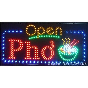 2017 New 80X40CM Vietnamese PHO Beef Noodle Soup Restuarant Open LED Shop Sign Neon Pho