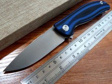 Hot sale . Efeng F3 Camping Folding Knife D2 Blade G10 Handle Pocket Tactical Knife Flipper Outdoor Knives +Blue color MMMMMM