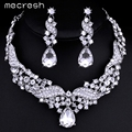 Mecresh Real Luxurious Angel Wings Crystal Imitated Gemstone Wedding Jewelry Sets including Necklace and Earrings TL006