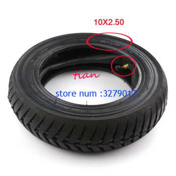 Wear-resisting 10x2.5 tire 10x2.50 Electric Scooter Balancing Hoverboard self Smart Balance  Tire 10 inch tyre with Inner Tube 10inch 10x2 125 electric scooter balancing hoverboard self smart balance tire 10 inch tyre with inner tube