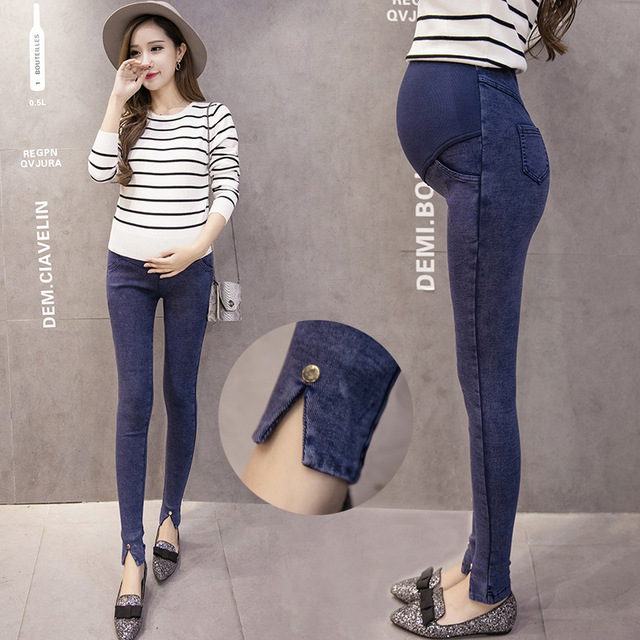 2017 Maternity Jeans Pants For Pregnant Women Elastic
