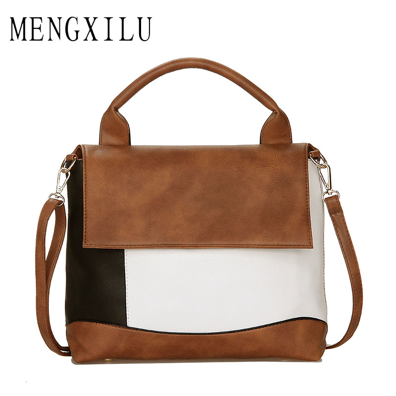 MENGXILU 2018 Crossbody Bags For Women Bags Handbags Women Famous Brand High Quality Leather Bag Ladies Bolsa Casual Totes Bag 2015 famous brand women bag fashion qiwang genuine leather high quality women totes handbags women solid zipper crossbody bags