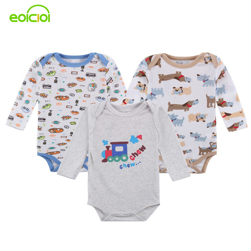 3pcs/Lot new born baby clothes Long sleeves baby boy romper ropa bebe clothing boys Girl infant winter clothing bebe romper newborn baby clothes winter long sleeves with feet baby boy girl clothes babies overalls ropa de bebe infant product baby romper