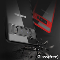 Pour Samsung Galaxy Note 8 Cas TPU + PC de Couverture Arrière Pour Galaxy Note8 cas avec un verre livraison TOTU téléphone cas pour samsung note8 couverture