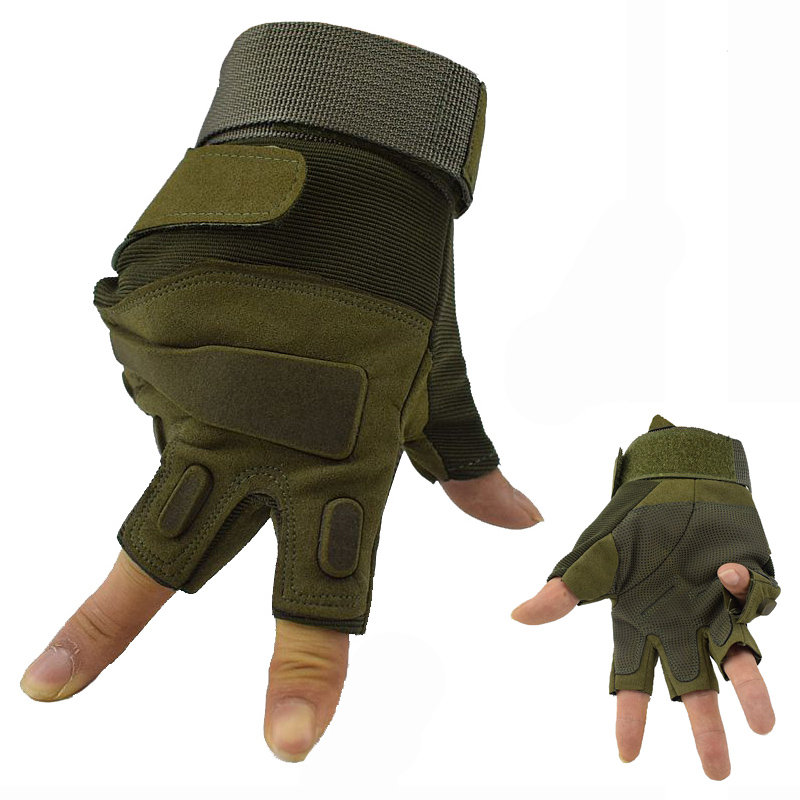 Fingerless Motorcycle Cycling Gloves Outdoor Sport Military Army Tactical Gloves