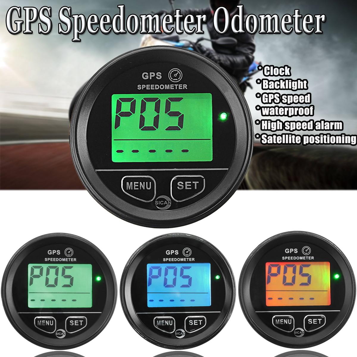 60mm Motorcycle GPS Speedometer Odometer for Motorcycle Atv Marine Boat Buggy Golf Go Cart Truck black 60mm gps digital speedometer 12v 24v odometer gauge car motorcycle atv marine boat truck