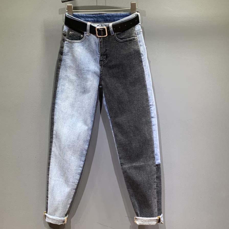 Большой размер 26-31! Джинсы женские, с высокой талией, длинные, модные, прямые