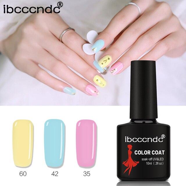 Ibcccndc 10 ml UV ג 'ל לק 80 צבע ציפורניים ג' ל פולני Vernis חצי קבוע נייל פריימר ג 'ל לכות ג' ל lak לכה 31-60