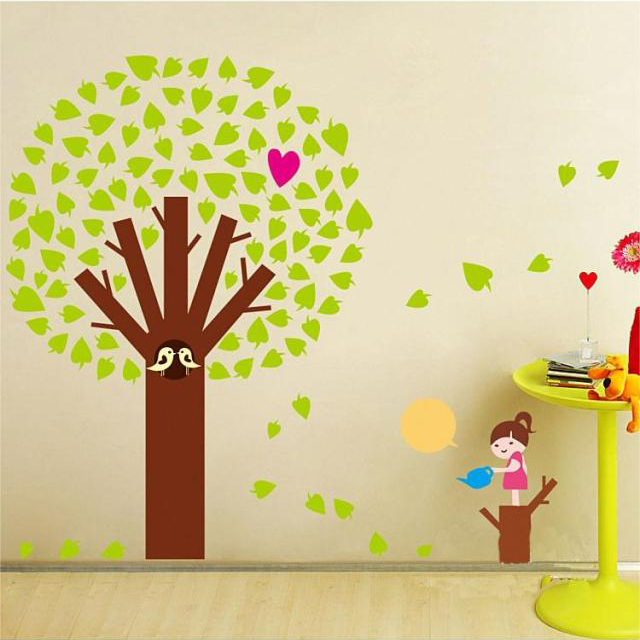 Free Shipping Latest Giving Tree Wallpaper Wall Sticker Mural Home Room Decor Kids Art Baby Decoration In Stickers From