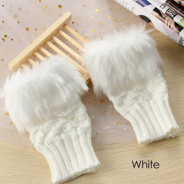 1 Pair Wool Blend Faux...