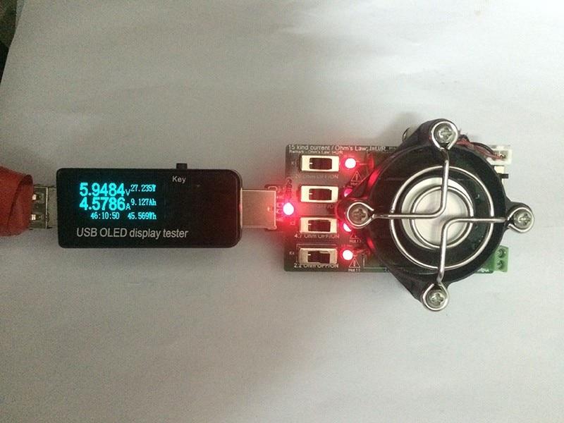 Reguleeritav 15 tüüpi praegune USB-koormustakisti elektrooniline - Mõõtevahendid - Foto 3