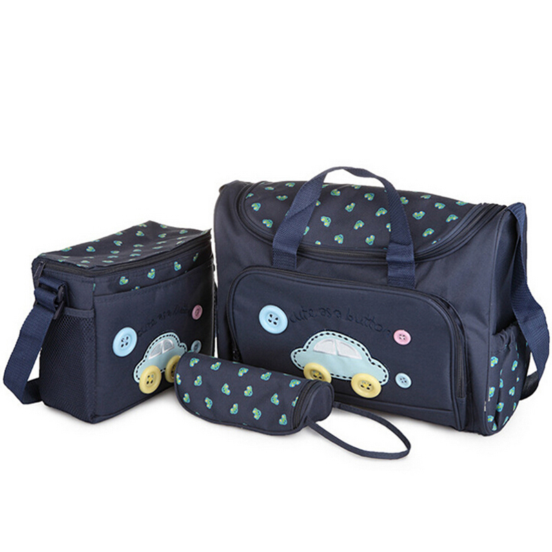 4PCS Maternity Mummy Baby Changing Bag Nappy Diaper Mat Small Tote Remove Bag