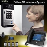 New Video Intercom System Door Access Control Audio SIP Door Phone For Hotel Apartment Factory Office