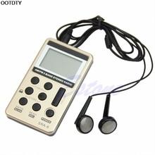 1 conjunto mini portátil am/fm 2 banda sintonização digital receptor de rádio estéreo + fone de ouvido dc 5 v l060 quente