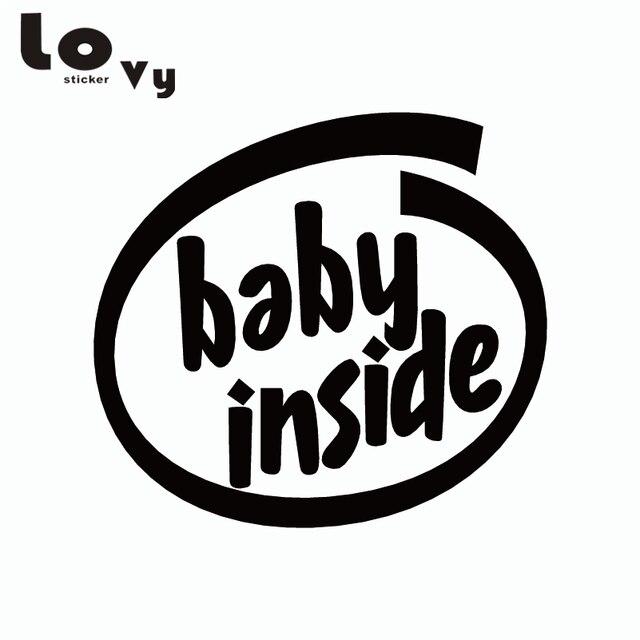 Baby Inside Car Sticker Intel Sticker Baby In Car Warning Signs Vinyl Car  Decal