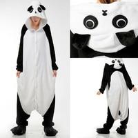 Cheap Kigurumis Cartoon Kungfu Panda Animal Pajamas Footie Onesies Cosplay Halloween Christmas Sleepwear Costume For Adult