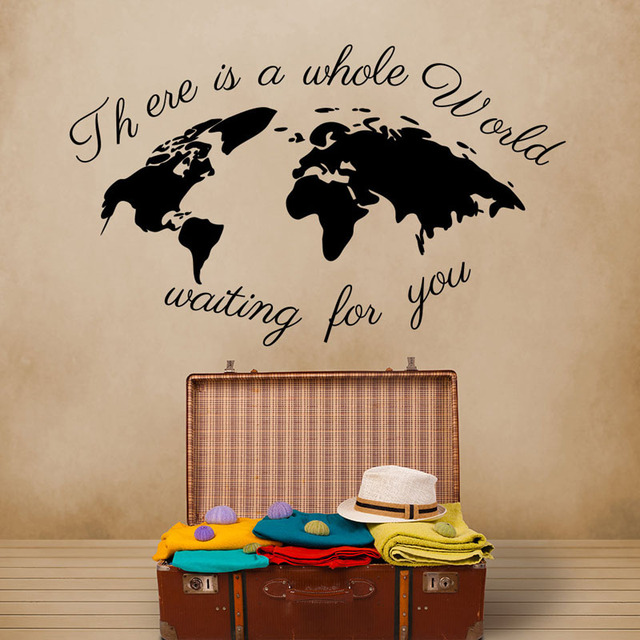 Buckoo Hot Map Wall Stickers There Is A Whole World Waiting For You Nursery