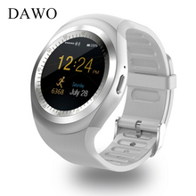 DAWO Y1 Bluetooth Good Watch Sleep Monitor Pedometer With Whatsapp Fb Males Girls 1.54 inch Contact Display For IOS Android