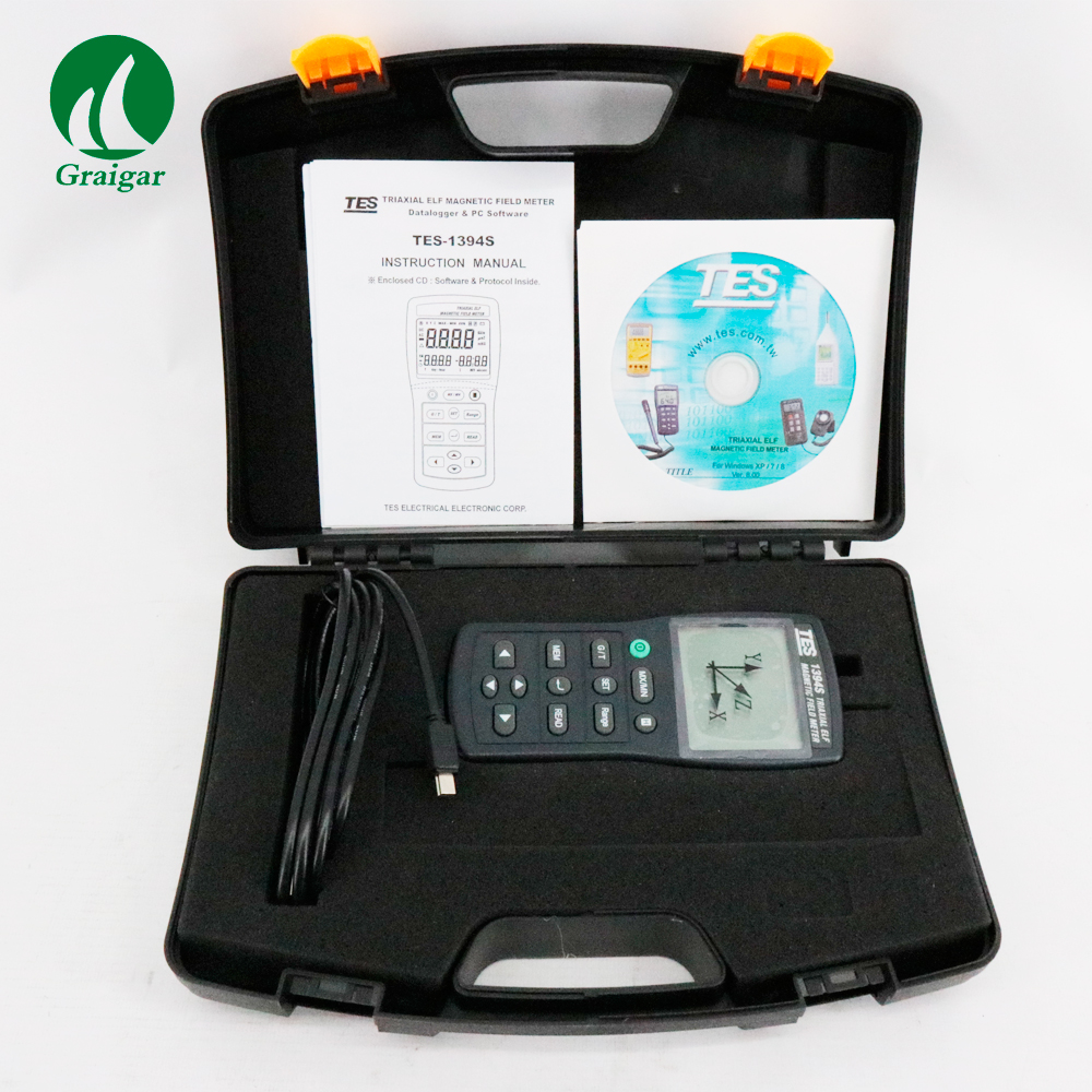 EMF Meter TES-1394S with (USB & 4GB SD Card) Updated Version of TES-1394