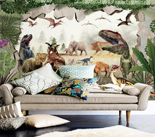 Decorative wallpaper 3D dinosaur kingdom background wall painting(China)