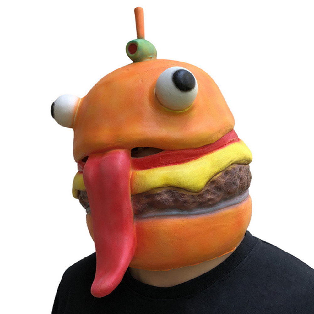 Game Beef Boss Hamburger Mask Full Face Mask Helmet Adult Halloween Carnival Cosplay Mask Costume