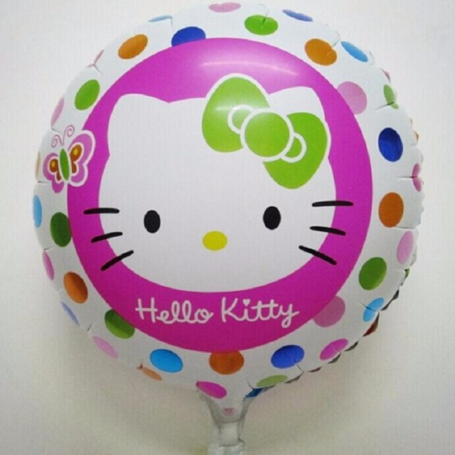 Many Design 1pcs Cute Hello Kitty Foil Balloons Baby Globos Toy