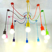 12 Colors Industrial Vintage Pendant Lights Edison Lamp Adjustable DIY Art Pendant Lamp 4 6 8