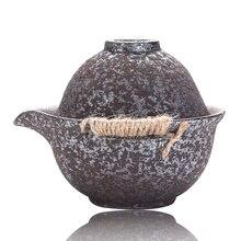S/2 чайный сервиз высокого качества из дерева пеньковая веревка керамический гайвань& чайная чашка из фарфора Быстрая и легкая чашка