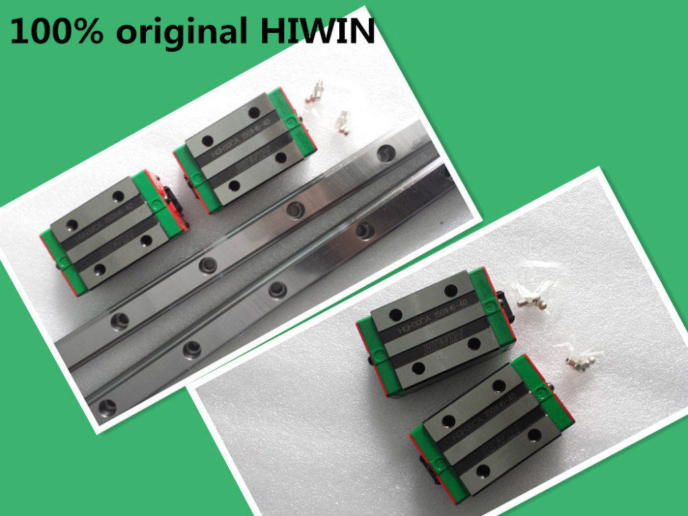 2pcs 100% New Original HIWIN Linear Guide  HGR20 -L1200mm Rail + 4pcs HGH20CA narrow blocks for CNC Router 100% new hiwin linear guide hgr20 l500mm rail 2pcs hgh20ca narrow carriages for cnc router cnc parts