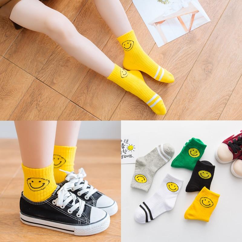 High Quality 5 Pairs Socks Set New Fashion Happy Kids Soft Sock Baby Boy Girl Cotton Sock Children's Socks For Women Miaoyoutong 6