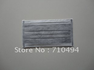 free shipping hot sell 50pcs/set 3 layers activated carbon mask, ear loop dental mask